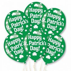 6 x Happy St Patrick's Day Balloons Party Decorations Air or Helium Fill Gold Balloons, Latex Balloons, Special Pictures, Happy St Patricks Day, Balloon Arch, Party Packs, Party Themes, Party Ideas, Table Centerpieces