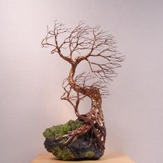3D Wire Sculpture Ideas | Wire Tree Of Life Duo Wind Spirits sculpture Peridot Crystals Lava ...