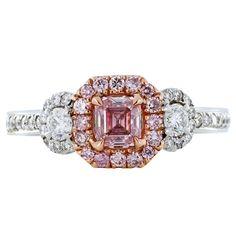 Argyle .36ct Fancy Intense Pink DIamond Ring #pink #engagementring #diamond #rose (via @1stdibs)