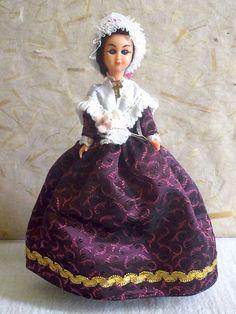 French Chalon sur Saône (Burgundy) costume doll, folk doll, vintage, Poupées Cybelle, France, vintagefr
