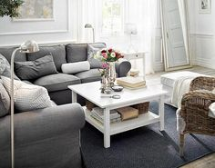IKEA Living Room Ideas For New Year Gray Fabric Corner Sofa