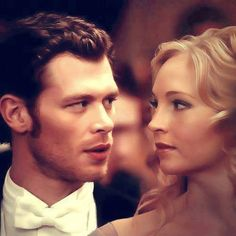 Klaus and Caroline/ Vampire Diaries i love them together even though he's the bad guy