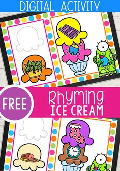 Ice Cream Rhyming Words Google Slides and Seesaw