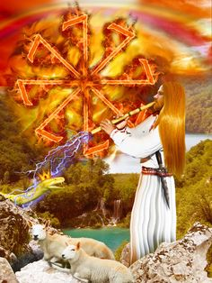 Kresnik (or rarely Kersnik and Krsnik) is a Slavic god associated with fire, the summer solstice, and storms. His mythical home, a sacred mountain at the top of the world, represents the axis mundi.  He gradually evolved into a Slovenian national hero who lives on a golden mountain, sometimes as a deer with golden antlers, associated with the summer solstice. He became known as a mythical king with strong magic, yet still a farmer.