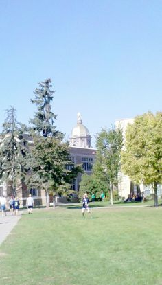 University of Notre Dame!! A magical, memory-filled place for many.