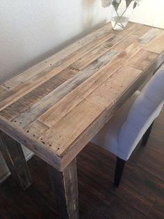 reclaimed wood modern rustic desk work table laptop by KaseCustom