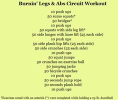 Burning Legs and Abs