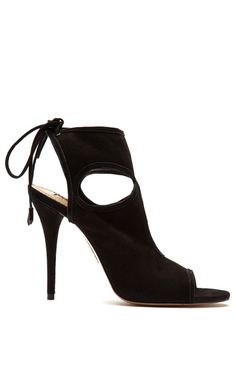 Sexy Thing Suede Peep Toe Sandals by Aquazzura Now Available on Moda Operandi