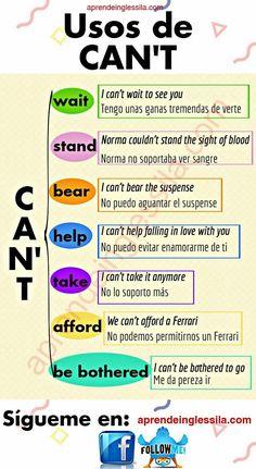 Usos de Can't