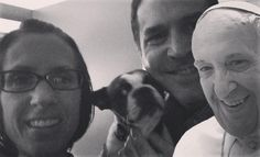 Very busy Friday night. #bostonterrier #popefrancis #friends #friday