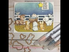 Art Impressions Blog: Animal Nativity Card by Lynn Dionne