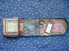 Civil War era Sewing Kit,roll.Soldier Housewife