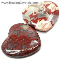 Hearts - Brecciated Jasper Heart  Brecciated Jasper is a stone of strength and vitality and can be used to help bring mental clarity and focus to a previously scattered life. Brecciated Jasper is also used for overcoming sexual guilt or shame, and can be helpful for those who are recovering from any kind of illness.  http://www.healingcrystals.com/Hearts_-_Brecciated_Jasper_Heart.html  Code HCPIN10 = 10% off