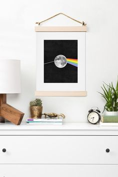 Buy Art Print with Dark Side Of The Moon designed by Nick Nelson. One of many amazing home décor accessories items available at Deny Designs. Dorm Room Art, Loft House, Moon Design, Moon Art, House Layouts, Simple House, Pink Floyd, Home Decor Accessories, Interior Inspiration