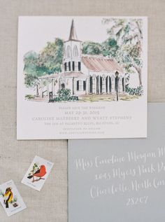 This charming Save the Date invitation looks incredible. I really like the personal touch of the drawing.