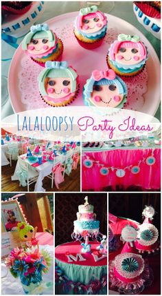 Fantastic Lalaloopsy girl birthday party ideas, including these Lalaloopsy cupcakes! See more party ideas at CatchMyParty.com. #lalaloopsy