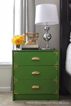 Green Campaign Inspired IKEA Rast Hack.  I would use a gold lamp.