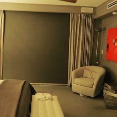 Motorized Window Treatment, Shades, Floor To Ceiling Windows, Curtains, Flooring, Windows, Bedroom, Home Decor, Window Treatments Bedroom