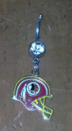 Washington Redskins NFL Football Navel Belly Button Ring Body Jewelry US Seller | eBay