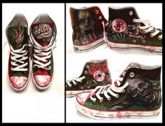 I found 'the walking dead shoes' on Wish, check it out!