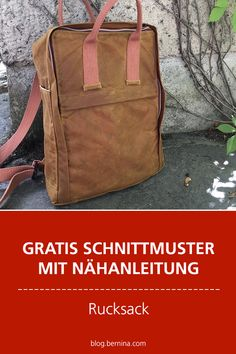 Free sewing pattern with sewing instructions (backpack) .- Gratis Schnittmuster mit Nähanleitung (Freebook): Rucksack nähen Free sewing pattern with sewing instructions (Freebook): Sew backpack # sewing projects - Bag Patterns To Sew, Sewing Patterns Free, Free Sewing, Sewing Tutorials, Free Pattern, Knitting Patterns, Costura Diy, Wire Crochet, Macrame Bag