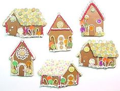 Gingerbread House of polymer clay tutorial - great, detailed directions on making miniature candies for decoration.