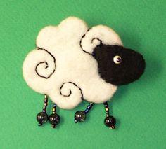 Брошка-овечка - Украшения - Фотоальбомы - Beretta