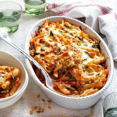 Creamy Tomato, Spinach and Pine Nut Bake