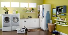 See awesome laundry room paint color ideas that will transform your space into a laundry retreat.