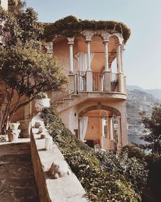 Dreaming of Villa Scarpariello Relais in Marmorata, Italy, an historic castle built upon a sea cliff and surrounded by lemon and fig trees . & Photography by Brydie Mack WOLFCUB via (& thanks, Oh The Places You'll Go, Places To Travel, Travel Destinations, Tulip Bouquet, Tudor Style, Beautiful Architecture, Vintage Architecture, Adventure Is Out There, Belle Photo