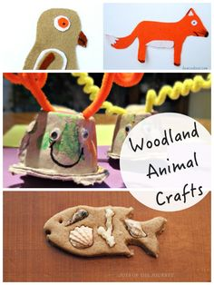 woodland crafts - woodland animal crafts for kids featured on Tuesday Tutorials