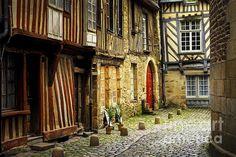 Medieval street in Rennes