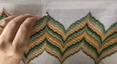 Basic Embroidery Stitches, Hardanger Embroidery, Simple Embroidery, Embroidery Patterns, Hand Embroidery, Bargello Quilt Patterns, Bargello Needlepoint, Bargello Quilts, Lace Knitting Patterns