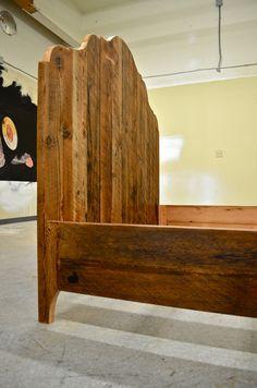 Rustic Salvaged Oregon Barn Wood Bed