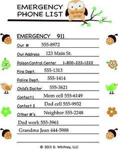 Always have emergency numbers nearby Great for babysitters and kids No more wasted paper 2 Fun colors Made in the USA *Just write, peel, and stick *Sticks to wa