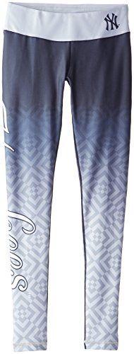 KLEW MLB New York Yankees Gradient Big Logo Print Leggings, Blue, Large  http://allstarsportsfan.com/product/klew-mlb-new-york-yankees-gradient-big-logo-print-leggings/?attribute_pa_size=large&attribute_pa_color=blue  88% polyester/12% spandex Elastic waistband High-Quality Printed Graphics