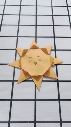 Easy Origami Sun Doll Tutorial DIY Paper Crafts - cooking tips Chat Origami, Instruções Origami, Origami Butterfly, Paper Crafts Origami, Paper Crafts For Kids, Diy Arts And Crafts, Creative Crafts, Diy Crafts, Simple Origami