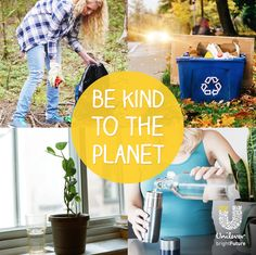 Kick start the ways you can be more eco-friendly around your home and in your community! It's the little things… recycling, trash pick-ups at your local park, using a refillable water bottle…every little action counts. @UnileverUSA #ReimagineThat #partner ==