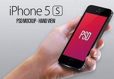 iPhone 5S hand view mockup