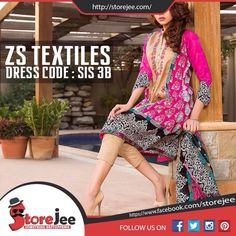 ZS Textile is available at Storejee. The place from where you can buy stuff of your choice at economical prices. To order visit our facebook page www.facebook.com/storejee #ZSTextile #clothes #replica #fashion #ladies #Summer #Lawn #Printed #Unstitched #dress #karachi #pakistan #onlinestore
