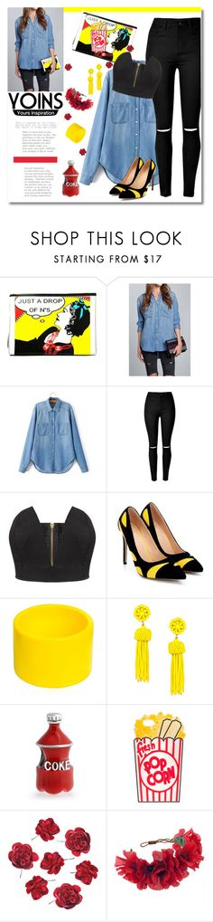 """""""Yoins contest - Win Yoins shirt"""" by andrea2andare ❤ liked on Polyvore featuring Karl Lagerfeld, Dsquared2, Bling Jewelry, Rock 'N Rose and yoins"""