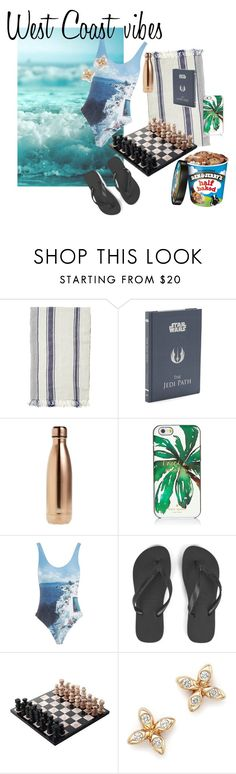 """West coast vibes"" by nicolineclement on Polyvore featuring Toast, Chronicle Books, S'well, Kate Spade, Orlebar Brown, Havaianas, NOVICA and Dana Rebecca Designs"