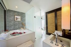 If you're one who spend the time more than 30 min. in bathroom, We suggest this room ^^ White Sand Beach, Hotel Spa, Hotel Deals, Beach Resorts, Rock, Bathroom, Washroom, Skirt, Full Bath