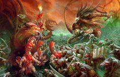 Fyreslayers vs Skaven Pestilens, par (auteur inconnu), in Age of Sigmar, par Games Workshop