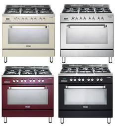"""תנור אפיה משולב כיריים מפואר ברוחב 90 ס""""מ במגוון צבעים תוצרת Delonghi דגם NDS978"""
