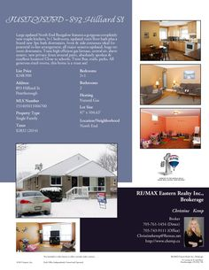 Just Listed North End Bungalow!