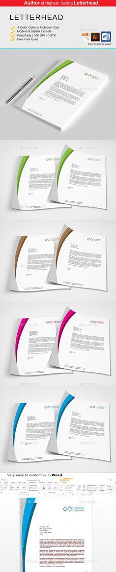 Letterhead on Pinterest - corporate letterhead