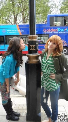 """Bella Thorne said to Zendaya """" Why are you kissing the pole?"""" Zendaya said """"Cause I felt like it Bella. Is that so bad?!"""""""