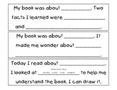 F is for First Grade: Reading Responses