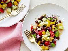 Ina Garten's Guacamole Salad gets rave reviews - use 2 cans black beans to make this a one-dish meal for I-Burn (use 1 avocado, and sub a little extra cayenne for the jalapeno) or Phase 3.